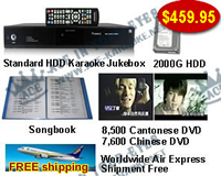 Standard Hard Drive Karaoke Jukebox With Cantonese DVD and chinese dvd  songs