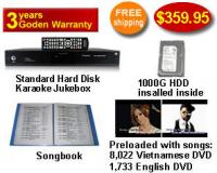 Standard Hard Drive Karaoke Jukebox With English and Vietnamese DVD songs